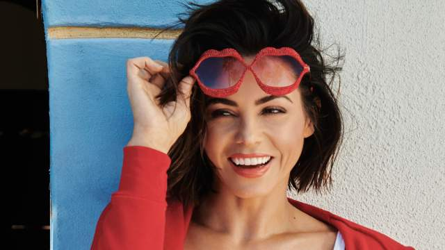 jenna dewan tatum march bikini rainbow with unglasses