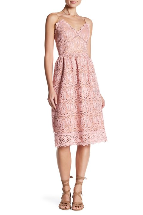 Affair by Current Air Lace Midi Dress