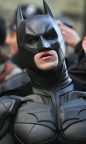 Christian Bales Batman Suit Arrives On The Set Of The