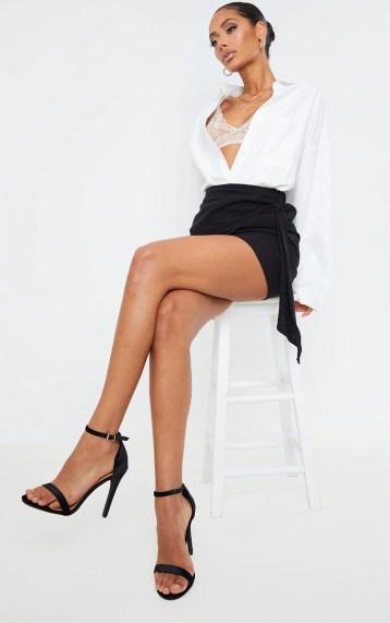 Clover Black Velvet High Heels image 1
