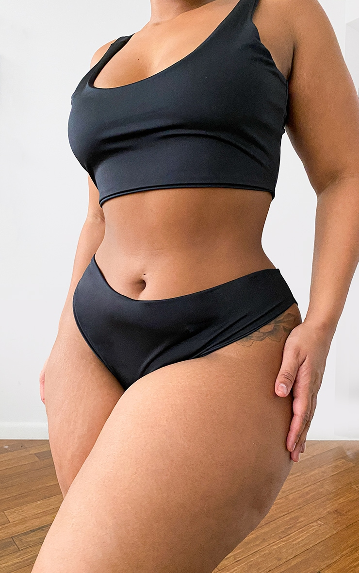 Plus Black Mix & Match Cheeky Bum Bikini Bottoms 12
