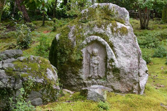 The Hakusasonso Garden in Kyoto is well-known for its fine Buddhist statuary.   STEPHEN MANSFIELD