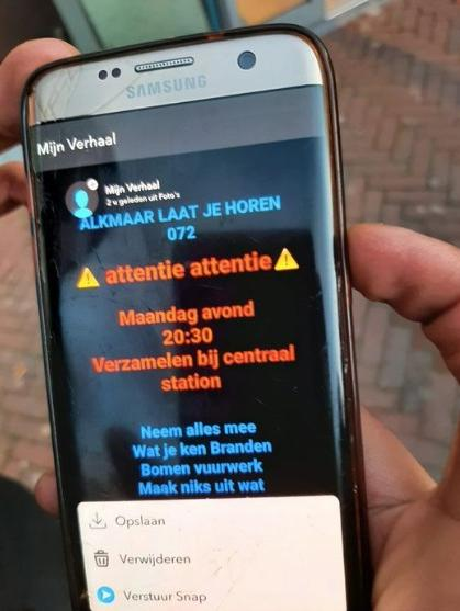 Calls through social media to riot in Alkmaar and Heerhug…