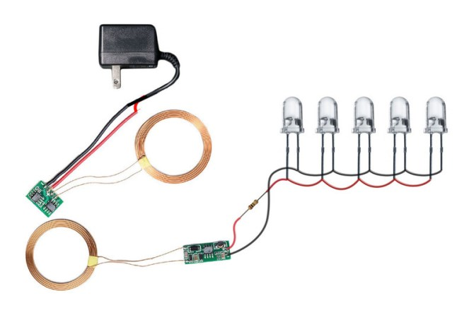 wiring diagram  wireless inductive power night light