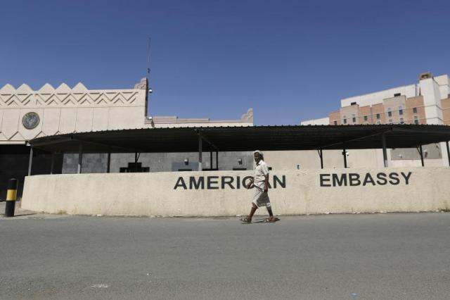 The U.S. embassy in Sanaa, Yemen, March 2015