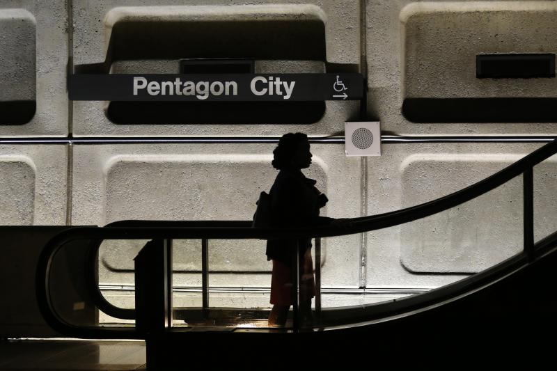 The Pentagon City metro stop in Washington, D.C., October 2013