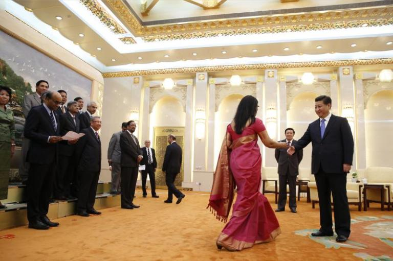 Xiat the launch of the Asian Infrastructure Investment Bank inBeijing, China, October 2014
