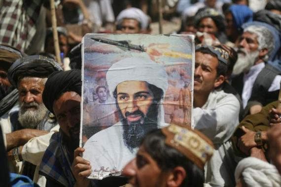Protesting the killing of bin Laden in Quetta, Pakistan, May 2011