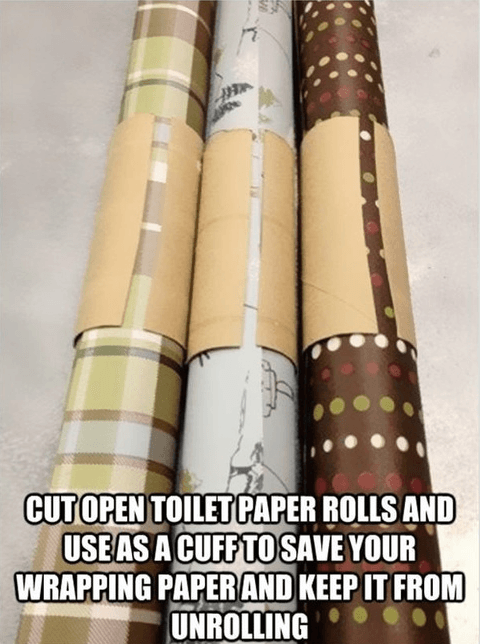 cut open toilet paper rolls and use as a cuff