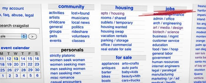 Craigslist Boston Jobs Apartments Personals For Sale