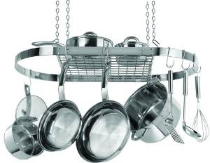 Give yourself more storage with a pot and pan rack