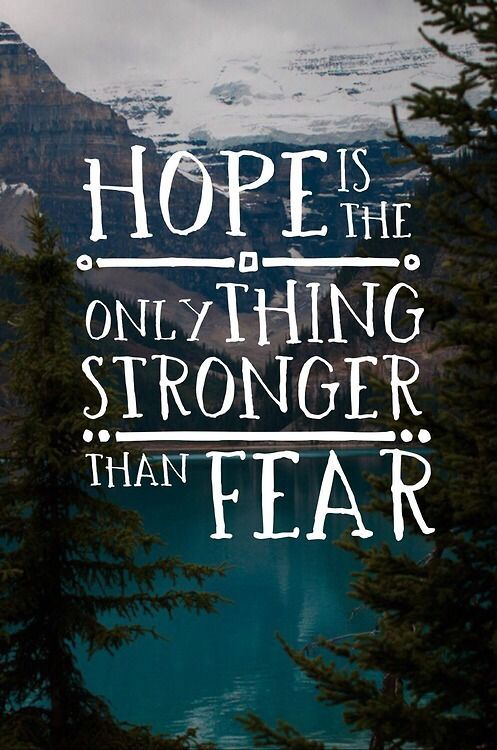 Image result for hope is the only thing