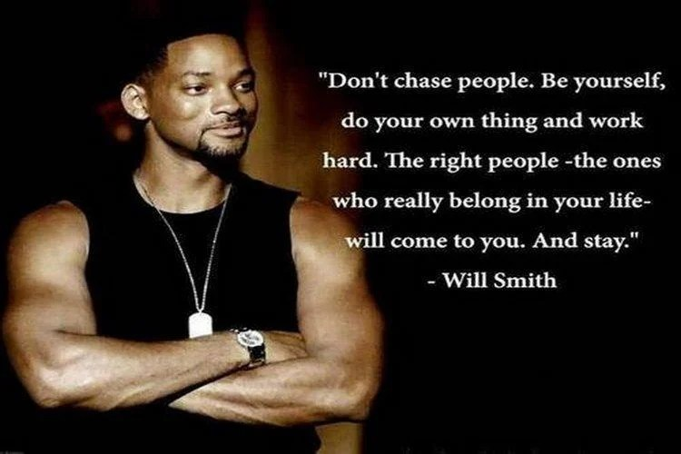 Don't chase people