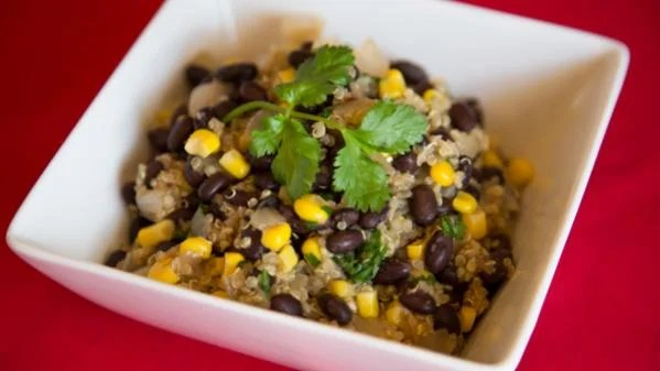 Black bean and quinoa bowl