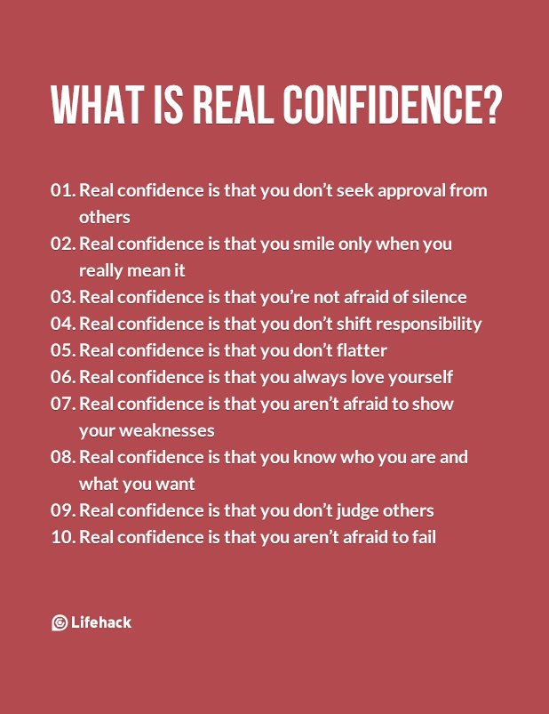 What is real confidence