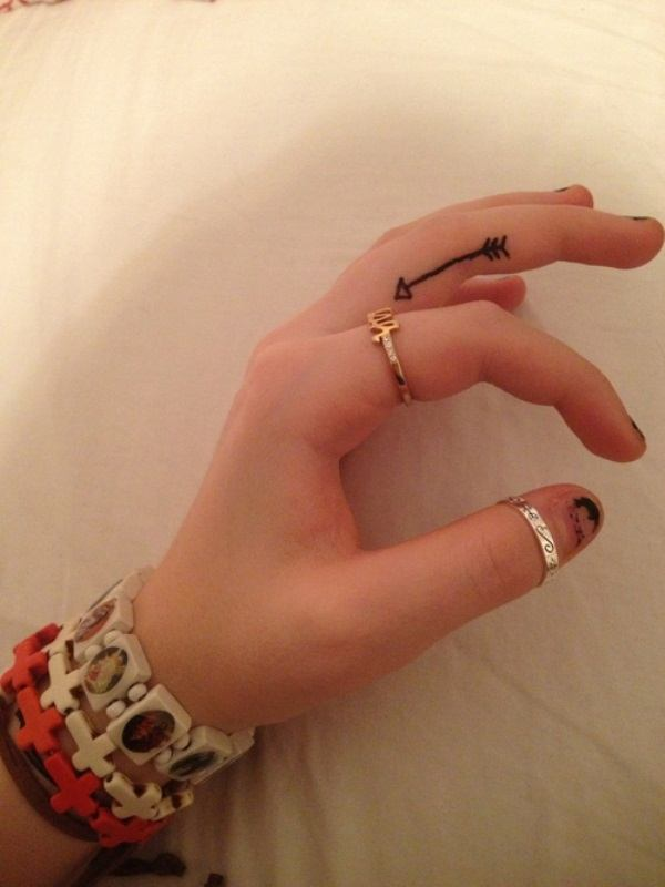 inner Arrow-Tattoo-for-Finger