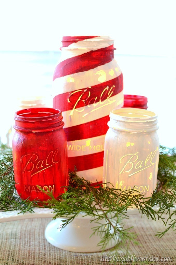 Painted-mason-jar-centerpiece