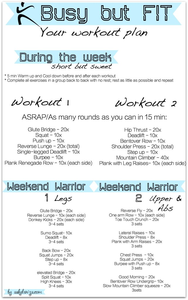 Workout plan for busy people