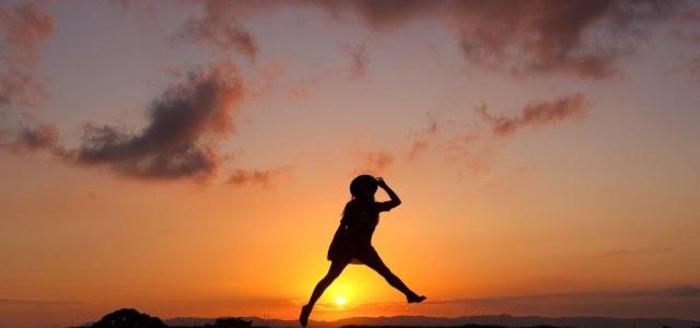 girl jump