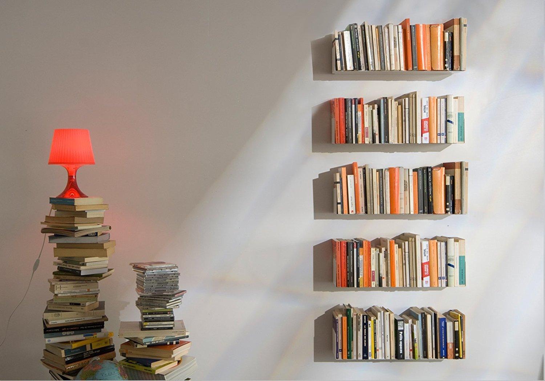 bookshelves u201cuu201d u2013 set of 4 white wall shelves