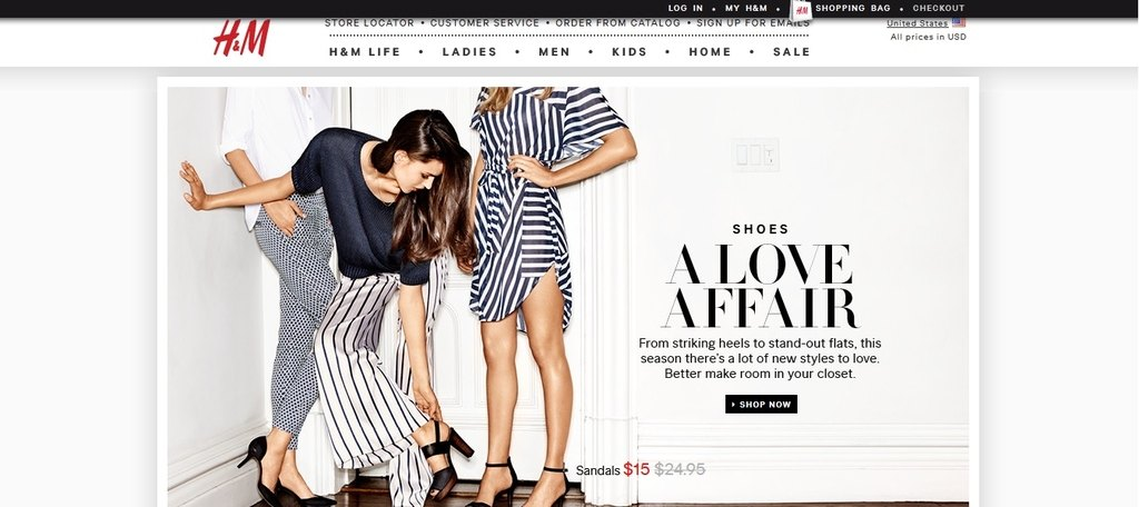 H&M is one of the largest international clothing retailers