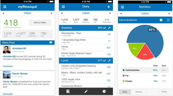 Image result for my fitness pal app