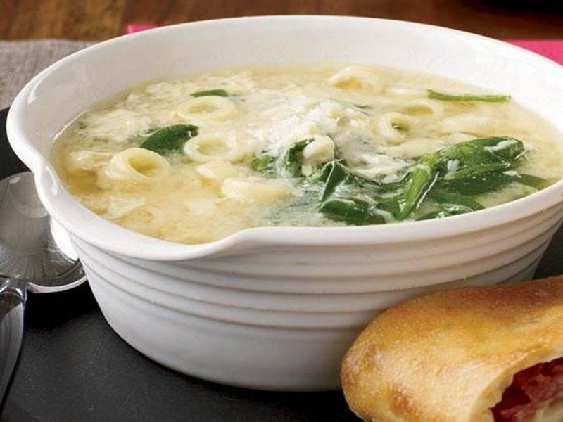 Spinach and Egg-Drop Pasta Soup(1)