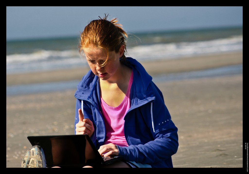 Learning and socializing on the beach