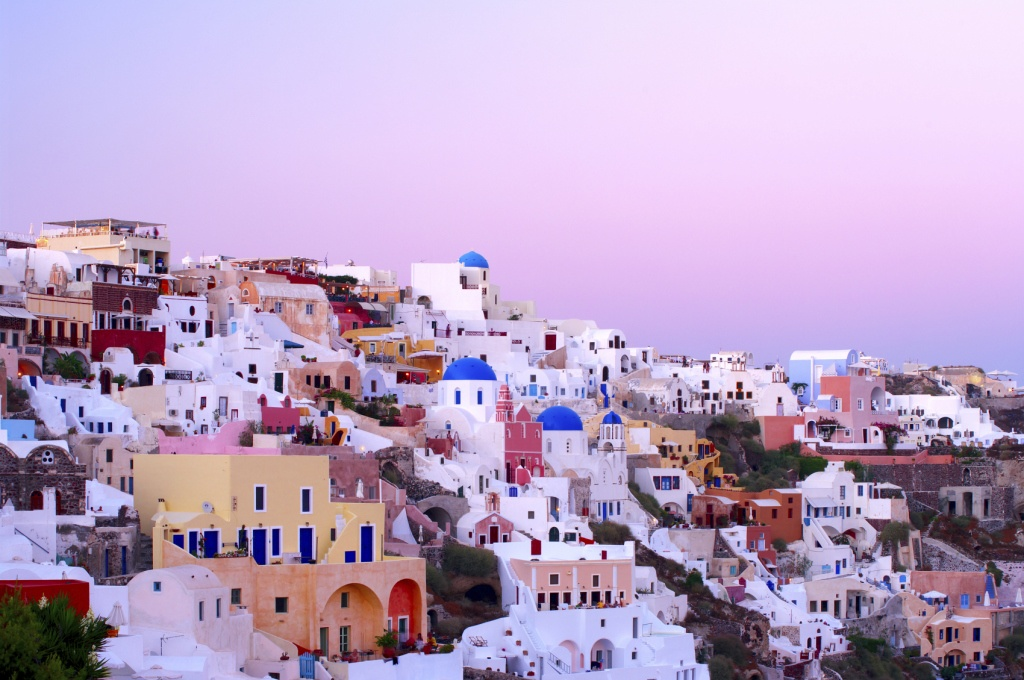Oia village in Santorini island.