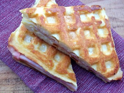 waffle grilled ham and cheese