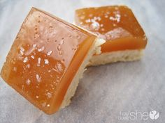salted caramel short bread