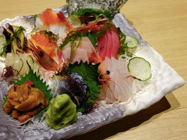 healthy meal from tuna and seafood
