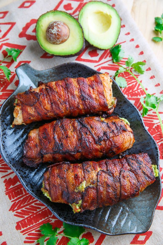 Bacon Wrapped Guacamole Stuffed Chicken 800 0147