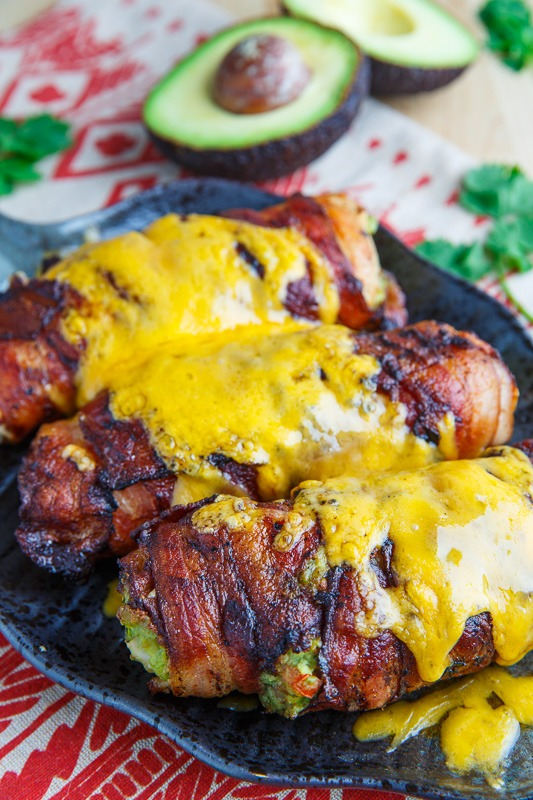 Bacon Wrapped Guacamole Stuffed Chicken 800 0386