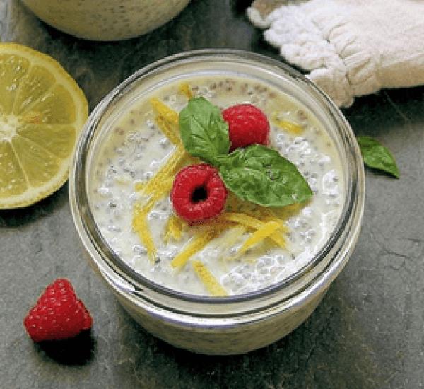 Lemon Chia Pudding with Fresh Berries