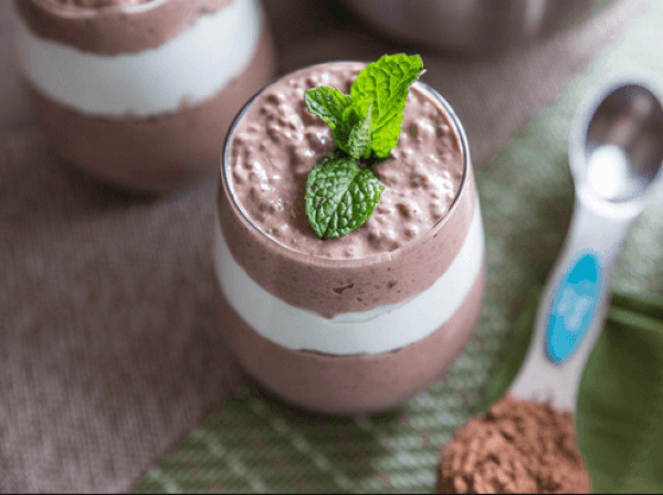 Mint Chia Seed Pudding
