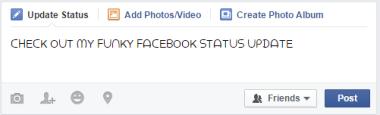 change facebook font for status update