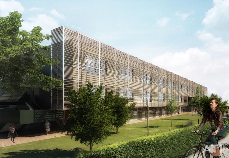 Scuola elementare via Brocchi, Milano - vista della facciata d'ingresso © ATIproject