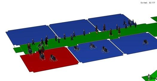 Esempio di simulazione di esodo in un fabbricato scolastico con presenza di bambini disabili