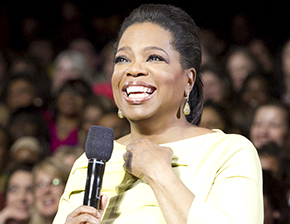 Oprah is leaning in.
