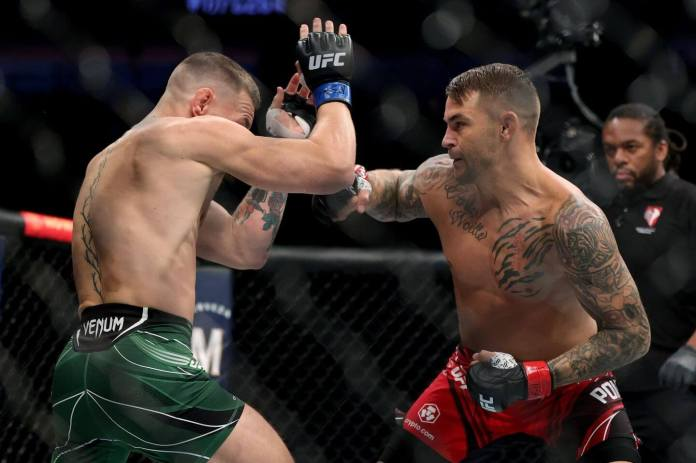 UFC 264 final results: Poirier wins rubber match against McGregor after  injury - The Athletic