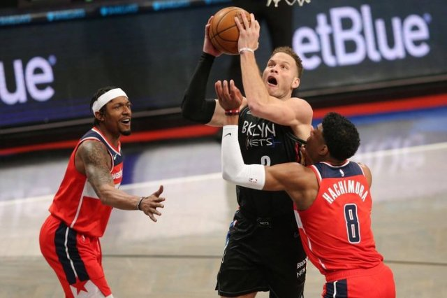 Blake Griffin dunks in Nets debut, win against Wizards - The Athletic