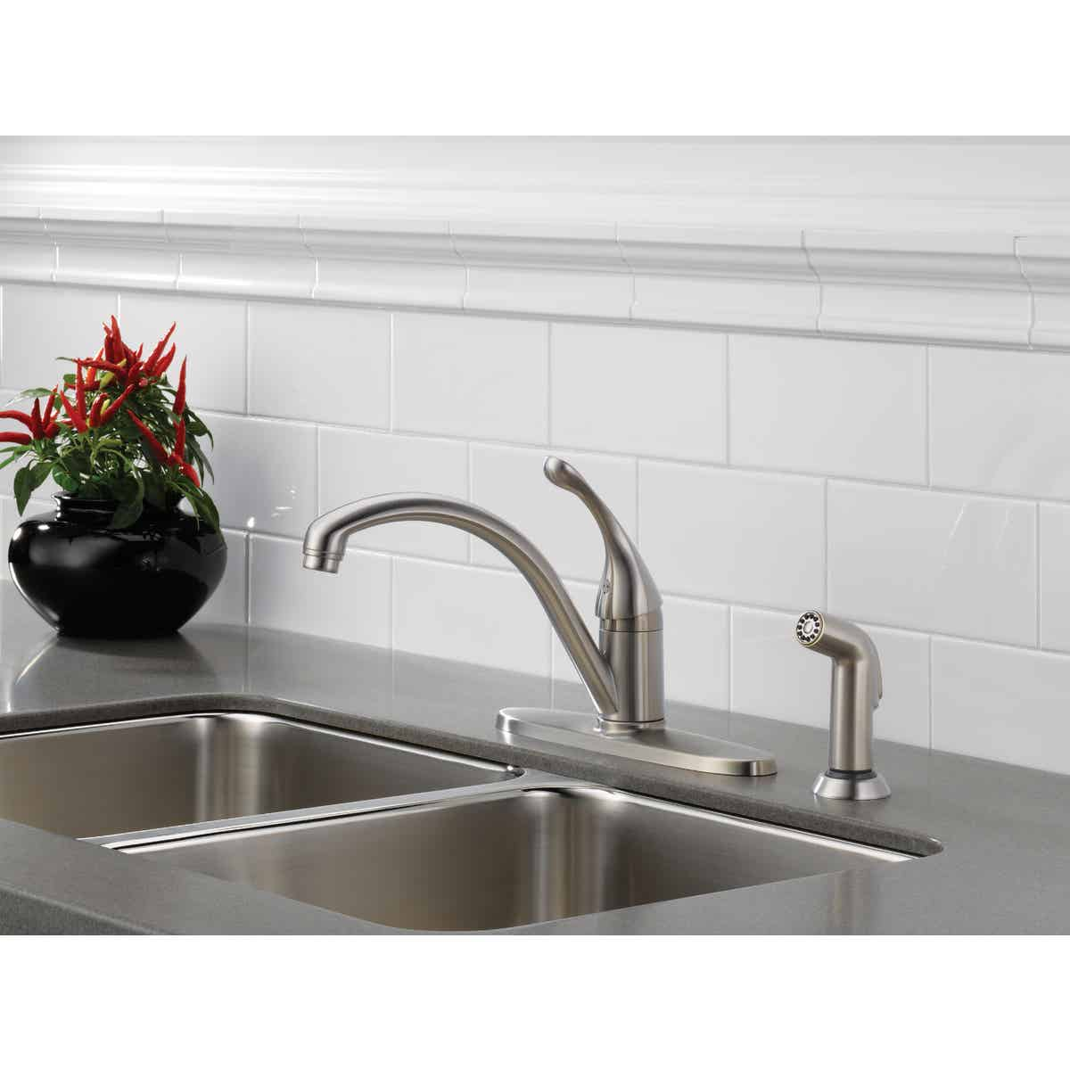 delta single handle lever kitchen