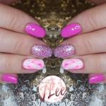 Pink Marble I Repeat Pink Marble And Some Sparkle Of Course Marble Nails Can Be Done In Pretty Much Any Colour And Can Be Tailored To Create More Or Less Intense Looks