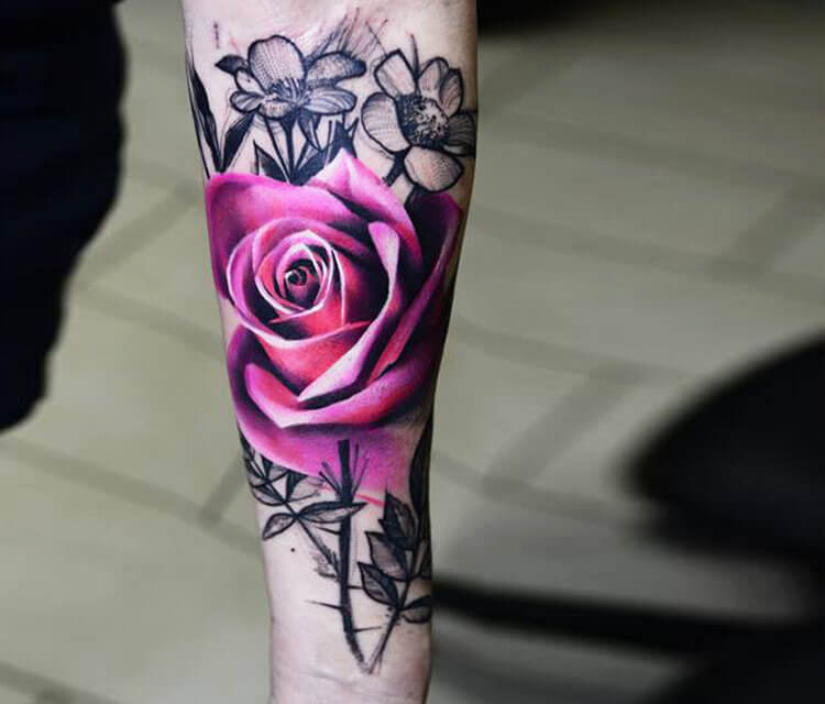 Realistic Triangles Colorful Abstract Roses