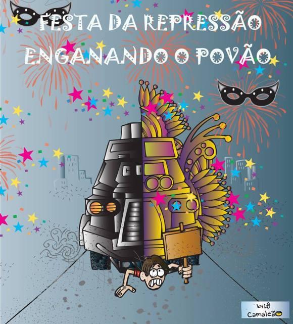 caveirão-carnaval-violência-policia-manifestante-brasil-governo-repressão-pão-circo-camaleão