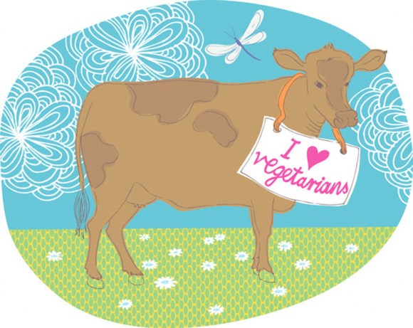 A Vegetarian Loving Cow --- Image by © Illustration Works/Corbis