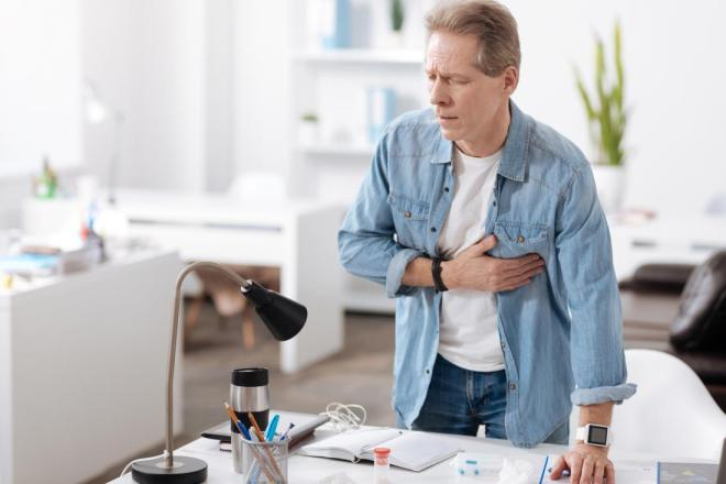 COPD may cause tightness in the chest and wheezing.