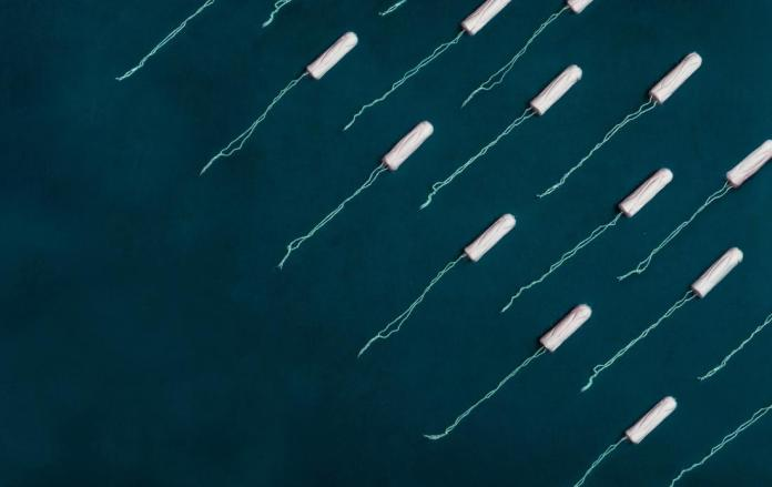 creative image of tampons