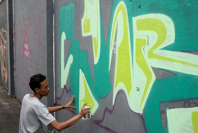 Sulap Gang Nganguk Jadi Street Art
